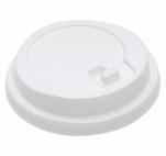 Крышка пластиковая 80мм с закрытым питейником белая