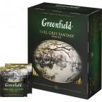Чай Greenfield Earl Grey Fantasy, черный с бергамотом, пакетированный