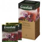 Чай Greenfield Spring Melody, черный с чабрецом, пакетированный
