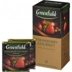 Чай Greenfield Strawberry Gourmet, черный с клубникой, пакетированный